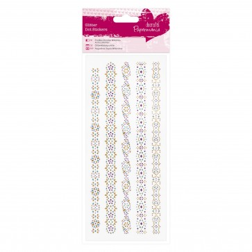 Glitter Dot Stickers - Borders