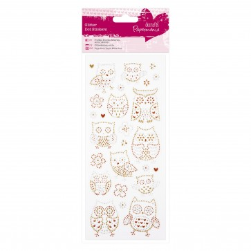 Glitter Dot Stickers - Owls