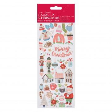 Glitter Stickers - Folk Christmas
