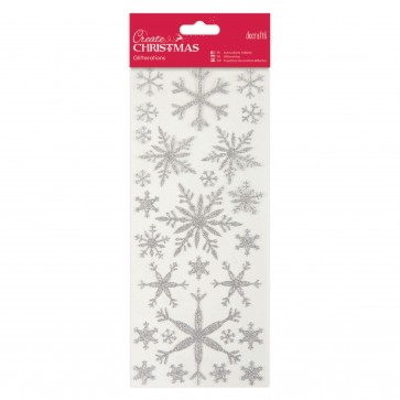 Glitterations - Snowflakes - Silver