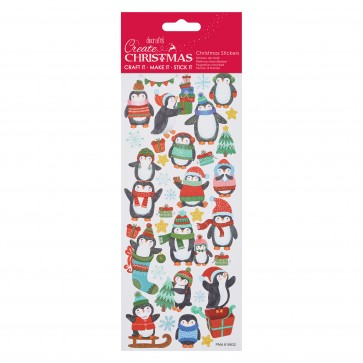Glitter Stickers - Christmas Penguin