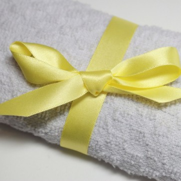 Double Face Satin Ribbon 38mm Pastel Yellow (5 Metres)
