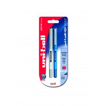 UB-157D Eye Designer 0.7mm Rollerball Pen 2pc Blister Black/Blue