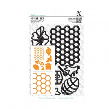 A5 Die Set (9pcs) - Bee Keeping