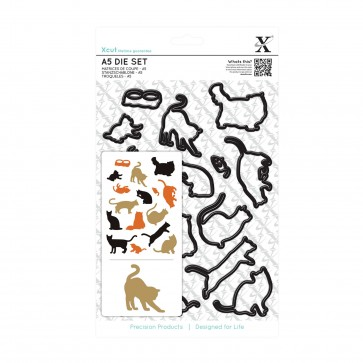 A5 Die Set (16pcs) - Mixed Cats