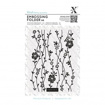 A6 Embossing Folder - Blossom Vines