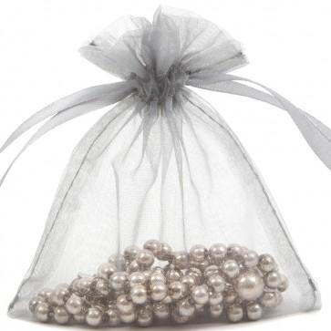 Organza Bag 7X9cm (10 Pack) Silver