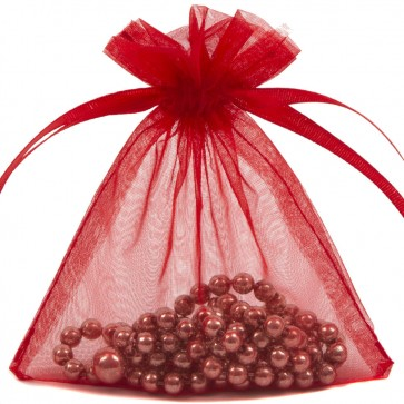 Organza Bag 9X12cm (10 Pack) Red