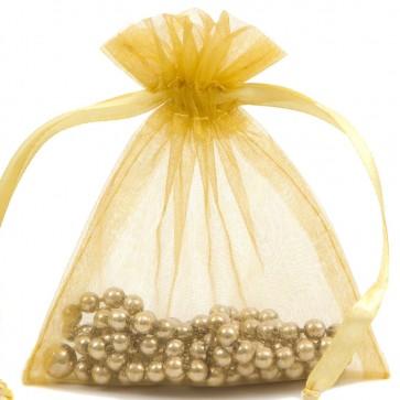 Organza Bag 10X15cm (10 Pack) Gold
