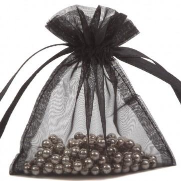 Organza Bag 7X9cm (10 Pack) Black