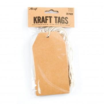 Kraft Tags 6.3 x cm (20 Pack)