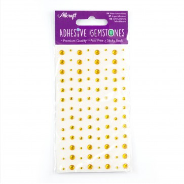 Adhesive Gemstones Gold (104 Pieces)