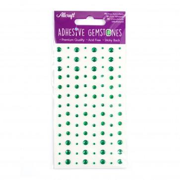 Adhesive Gemstones Green (104 Pieces)