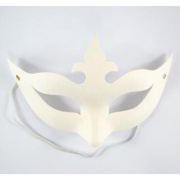 Mask White 13X19cm Crown