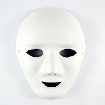 Mask White 18 x 24cm Full Face Smile