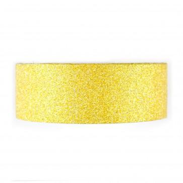 Glitter Tape 8mm X Mtr Gold