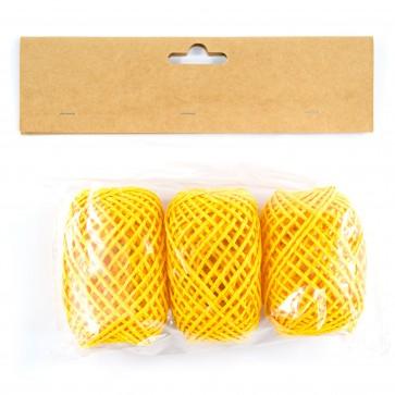 Paper String Balls 30m Yellow