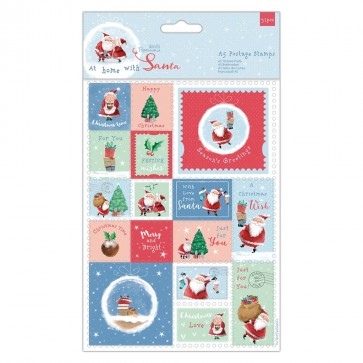 A5 Postage Stamps (32pcs) - At Home with Santa