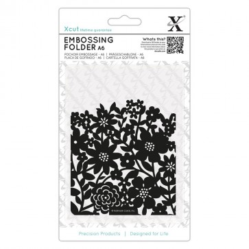 A6 Embossing Folder - Flower Curtain