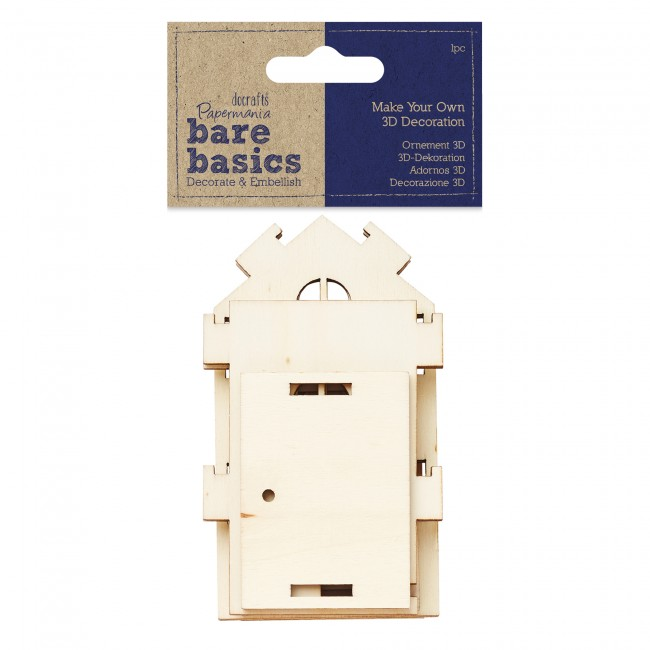 Make your own 3d decoration bare basics medium wooden for Make your own house 3d