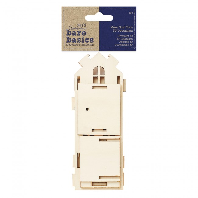 Make your own 3d decoration bare basics tall wooden for Make your own house 3d