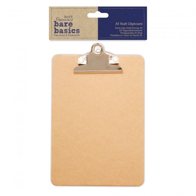 A5 Kraft Portapapeles-Bare Basics