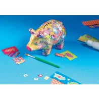 Decoupage Piggy Bank Kit