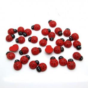 Wood Ladybug 1cm (40 Pack)