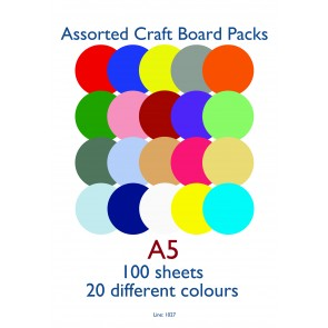 A5 Card 160gsm Assorted (100 Pack)