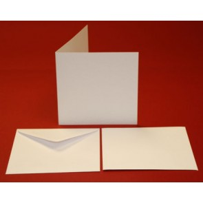 135x135mm Hammered Cards & Envelopes White (10 Pack)