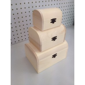 Wood Rounded Chest (3 Pack) 9.5-18cm