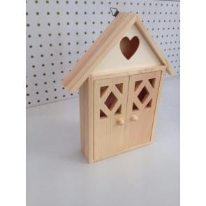 Wood House Key Cabinet 26X21X5