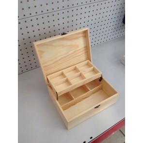 Wood Box Rectangle 24X18X9cm