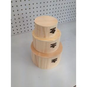 Wood Box Circle (3 Pack) 9-15cm