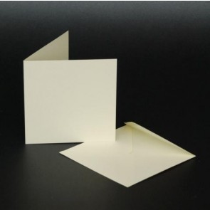 "3x3"" Cards & Envelopes Ivory (50 Pack)"