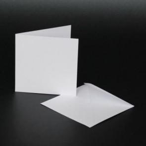 "3x3"" Cards & Envelopes White (50 Pack)"