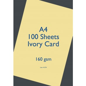 A4 Card 160gsm Ivory (100 Pack)