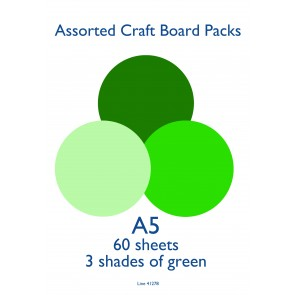A5 Card 160gsm Green (60 Pack)