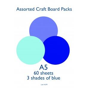 A5 Card 160gsm Blue (60 Pack)