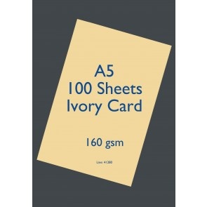 A5 Card 160gsm Ivory (100 Pack)