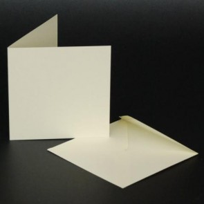"4x4"" Cards & Envelopes Ivory (50 Pack)"
