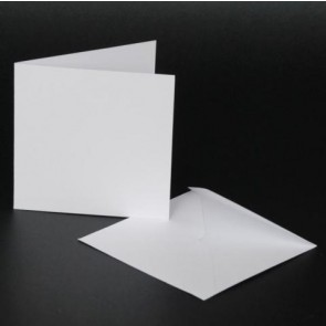 "4x4"" Cards & Envelopes White (50 Pack)"