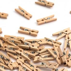 Wood Mini Pegs 2.5cm (30 Pack) Natural