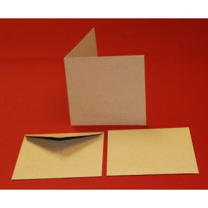 "5x5"" Cards & Envelopes Kraft (50 Pack)"