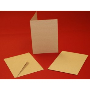 "5x7"" Cards & Envelopes Kraft (50 Pack)"