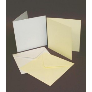 "5x5"" Cards & Envelopes Ivory (50 Pack)"
