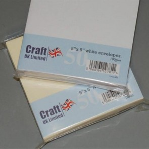 "5x5"" Envelopes White (50 Pack)"