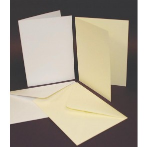 "5x7"" Cards & Envelopes White (50 Pack)"