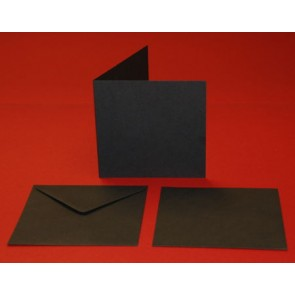 "6x6"" Cards & Envelopes Black (5 Pack)"
