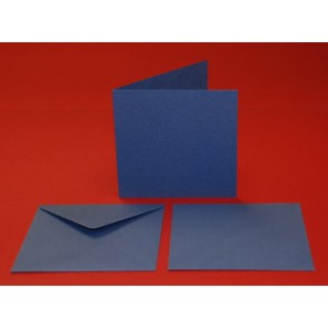 "6x6"" Cards & Envelopes Blue (5 Pack)"